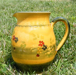 - Souleo Provence Terre e Provence Pottery - Round Water Jug