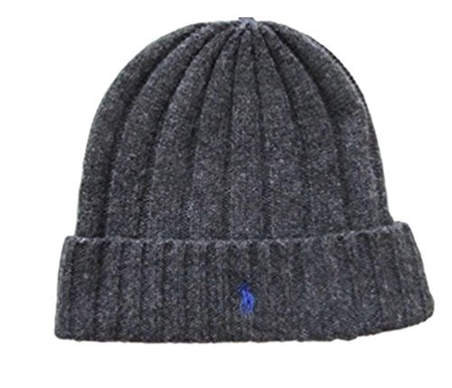 Ralph Lauren Charcoal Gray Beanie Skull Cap Hat