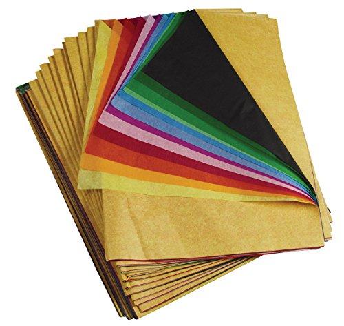 Spectra PAC59450 Deluxe Bleeding Art Tissue, Rainbow Ream, 12 Colors, 20