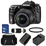 Pentax K-5 IIs Digital SLR Camera with SMC DA L 18-55mm f/3.5-5.6 Lens Kit. Includes: UV Filter, 16GB Memory Card, High Speed Memory Card Reader, Extended Life Replacement Battery, Charger and Carrying Case, Best Gadgets