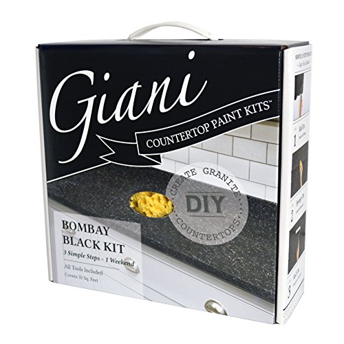 Faux Marble Counter - Giani Countertop Paint Kit, Bombay Black