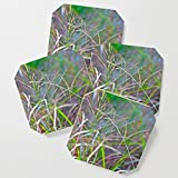 Society6 Drink Coasters, Dance of Grasses by crismanart, set of 4