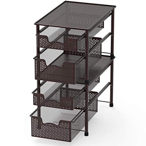 Mdesign Corner Plastic Metal Freestanding Stackable