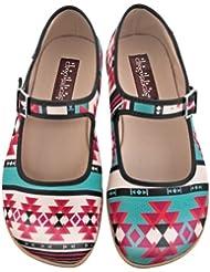 Hot Chocolate Design Chocolaticas Tribal Womens Mary Jane Flat