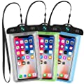 Waterproof Phone Case, Natalie Styx IPX8 Waterproof Cell Phone Dry Bag Pouch for iPhone6/6S Plus/7/7 Plus/8/8 Plus/5/5s, Samsung Galaxy S8/S7, Note 5 4, HTC, LG, Sony, Nokia - Up to 6 Inches (3 Pack) from Natalie Styx