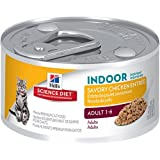 Hill's Science Diet Adult Indoor Cat Savory Chicken Entree Minced Cat Food, 3-Ounce Can, 24-Pack