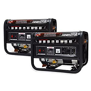 7000 Starting Watts, 5000 Running Watts, Gas Powered Portable Generators (TG3500 2 Pack)
