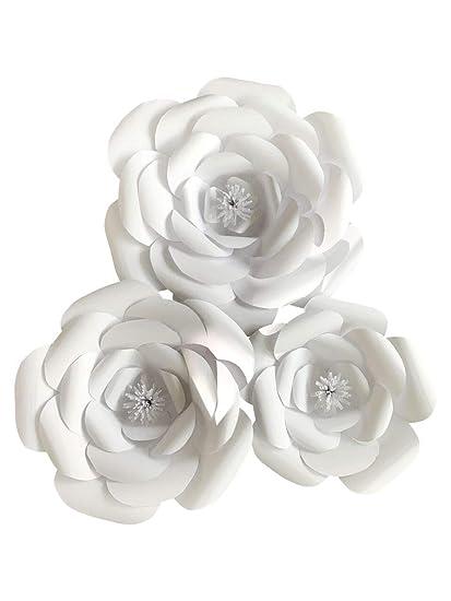 Amazon Large Paper Flower Petal Kit White 72 Piece Pack