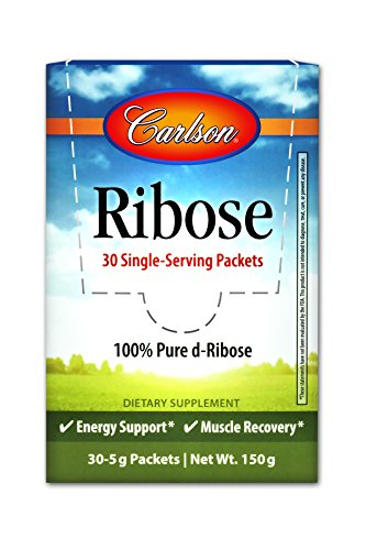 - Carlson - Ribose, 30 Single-Serving Packets, 100% Pure D-Ribose, Energy Support & Muscle Recovery, 30 Packs, 5 Grams Each