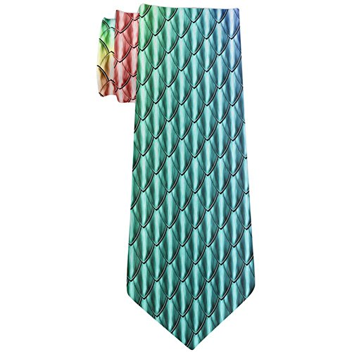 Halloween Chinese Imperial Dragon Scales Costume All Over Neck Tie Multi Standard One Size ()