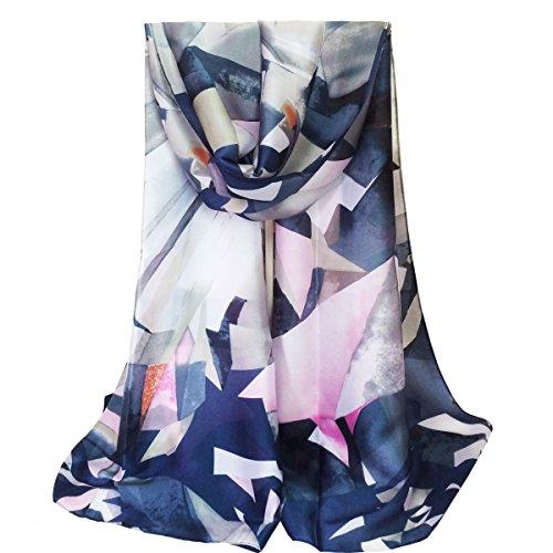 K-ELewon Silk Scarf Fashion Scarves Silk Long Lightweight Sunscreen Shawls for Women