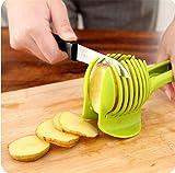 Rienar Tomato Slicer ,Multifunctional Handheld Tomato Round Slicer Fruit Vegetable Cutter,Lemon Shreadders Slicer