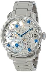 Akribos XXIV Men's AK525SS Stainless Steel Mechanical Skeleton Bracelet Watch