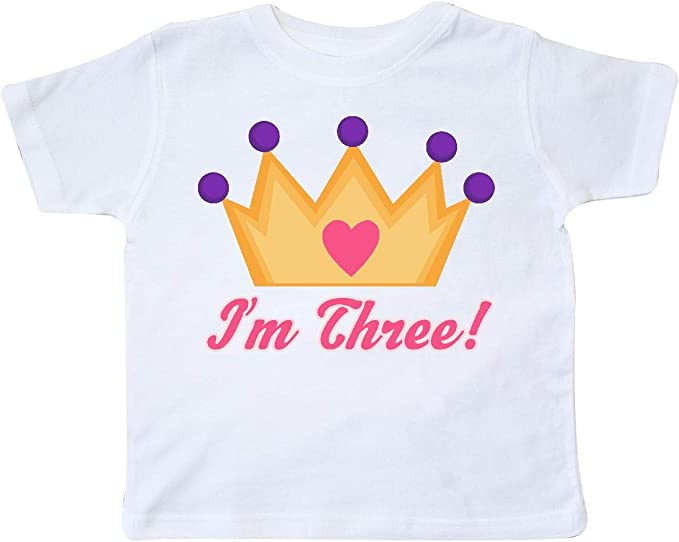 Amazon.com: inktastic Little Girls Tercer cumpleaños ...