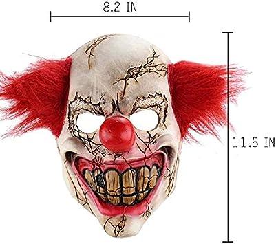 ZJSIM Halloween orribile Demone Adulto orrore Clown Cosplay Prop Diavolo Flame Zombie maschera Lattice: Amazon.es: Juguetes y juegos