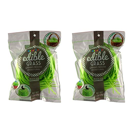 Grass Edible (Edible Easter Basket Candy Grass Green Apple, Pack of 2)