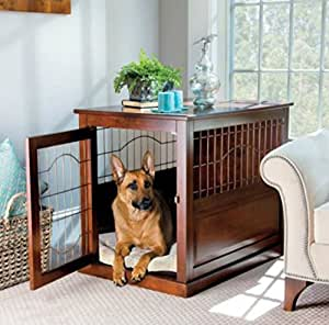 Coventry Wood And Metal Pet Crate Table Medium Pet Supplies