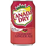 Canada Dry Cranberry Gingerale 222mL cans, Pack of 6
