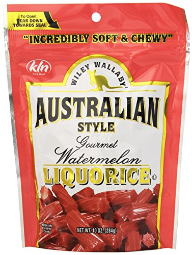 KENNY'S CANDY - for Human Consumption Only - for Human Consumption Only Wiley Wallaby Watermelon Liquorice, 10 ounce Bag (10 Pack) (Favor Feed Bags)