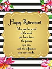 Happy Retirement Print for Home or office - A3 POSTER PRINT UNFRAMED. Beautiful, decorative artwork for a gift or for wall decoration. A high quality POSTER print on archival acid free paper 255 g.  IMAGE SIZE: 12.2 x 16.3 inch (31 x 41,33 cm...