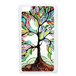 Custom Colorful Case for Ipod Touch 4, Love Tree Cover Case - HL-R658779
