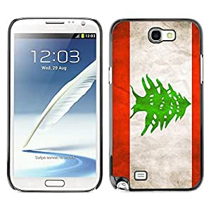 Shell-Star ( National Flag Series-Lebanon ) Fundas Cover Cubre Hard Case Cover para Samsung Galaxy Note 2 II / N7100