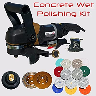 Stadea SWP112K Concrete Countertop Polishing Tools Package - Wet Polisher, Concrete Grinding Wheel, Concrete Polishing Pads Kit for Concrete Countertop Polishing