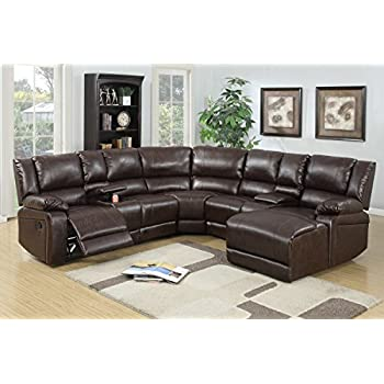 Amazon.com: Homelegance 6 Piece Bonded Leather Sectional ...