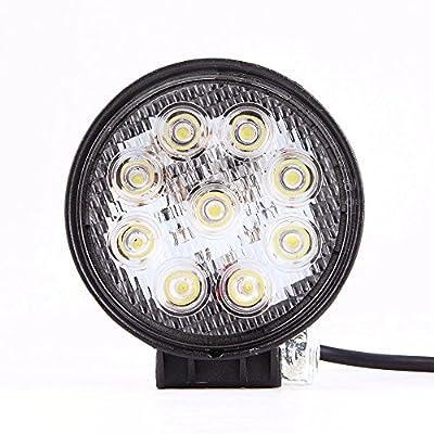 MTO® 20PCS 27W LED Work Light Lamp Bar Round Flood Beam Offroad For Truck Car Boat SUV 4WD UTE ATV 4X4 12V 24V