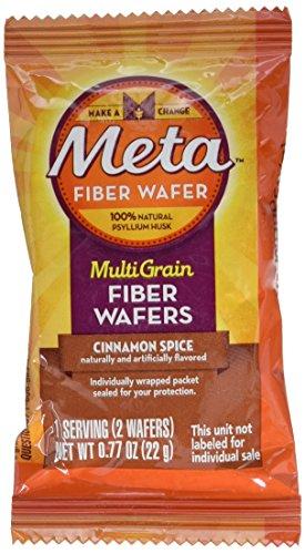 Meta Multi-grain Fiber Wafers by Meta, Cinnamon Spice 24 Count (Pack of 4)