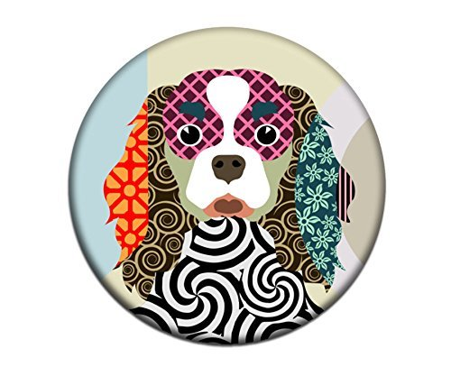 Cavalier King Charles Spaniel Dog Magnet 2. 25 inches diameter & 0.25 inches thick - Cavaliers Paper