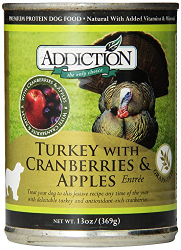 Addiction Turkey With Cranberries & Apples Entrée Grain Free Canned Dog Food, 13 Oz. (12-Pack)