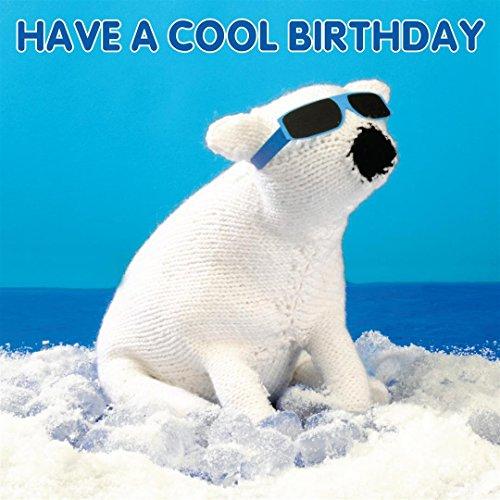 Polar Bear Mint (Knit & Purl 3D Birthday Card - Cool Birthaday Polar Bear)