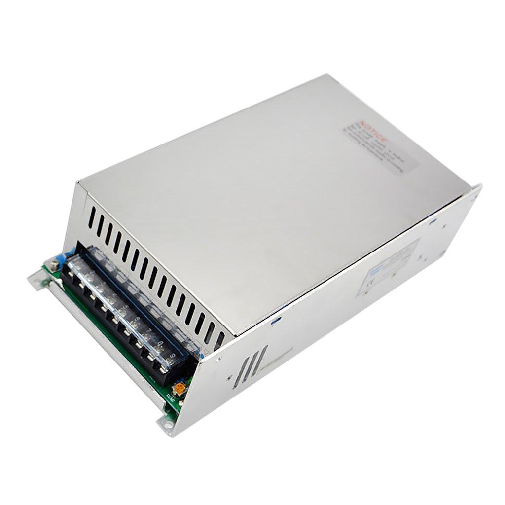 Jili Online Metal Switch Power Adapter Converter AC 110V-220V To DC 500W 24V 20A for LED Strip Silver