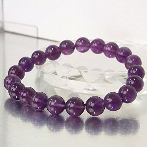 アメジスト ブレスレット 一点物 Amethyst 紫水晶 腕輪 パワーストーン 天然石 a13298   B07F3Y5P95