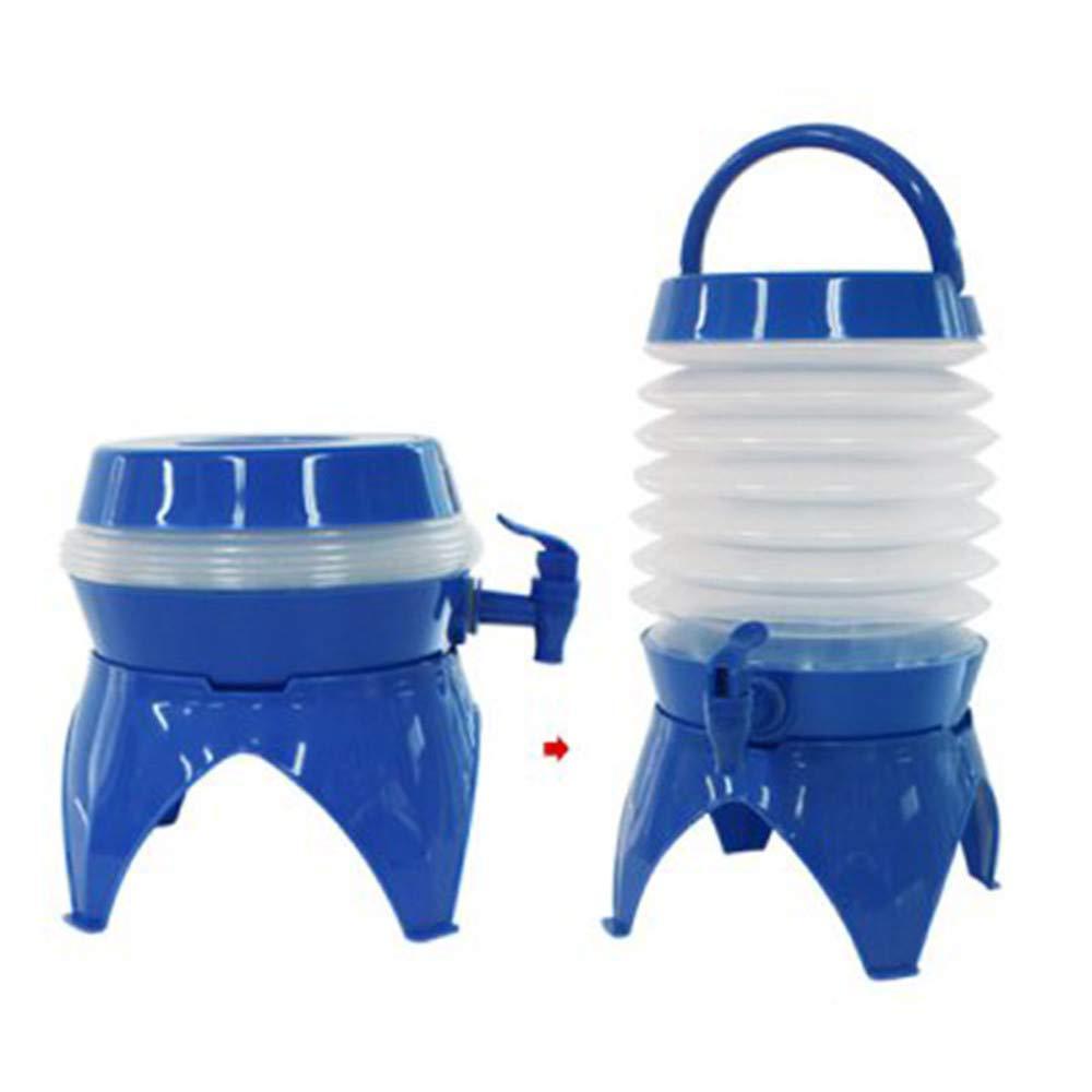 Adaym Envase de Agua Plegable de 5 litros 1 Paquetes portadores port/átiles no t/óxicos sin BPA para caravanas Camping Escalada Viajes Senderismo Caza Actividades al Aire Libre Cubo