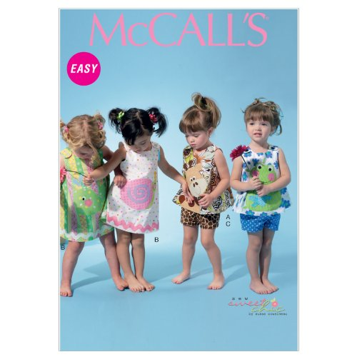 (McCall Patterns M6541 Infants' Top/Dress/Shorts and Applique and Eacutes )