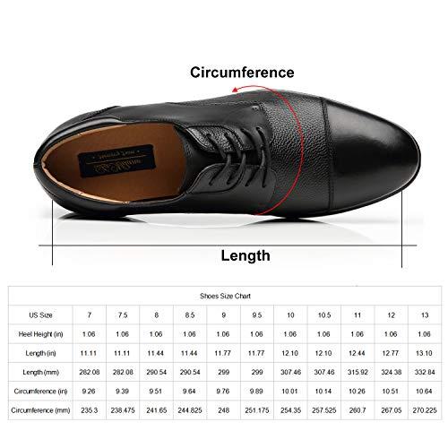 Wide Width Men's Leather Dress Shoes