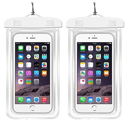 [2Pack]Waterproof Case Universal CellPhone Dry Bag Pouch CaseHQ for Apple iPhone 8,8plus,7,7plus£¬6S, 6, 6S Plus, SE, 5S, Samsung Galaxy s8,s8plus S7, S6 Note 7 5, HTC LG up to 5.8