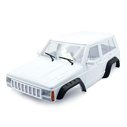 INJORA Hard Plastic 275mm/10 8 Inch Wheelbase Cherokee Body Car Shell for  1/10 RC Rock Crawler RC4WD D90 TF2 MST