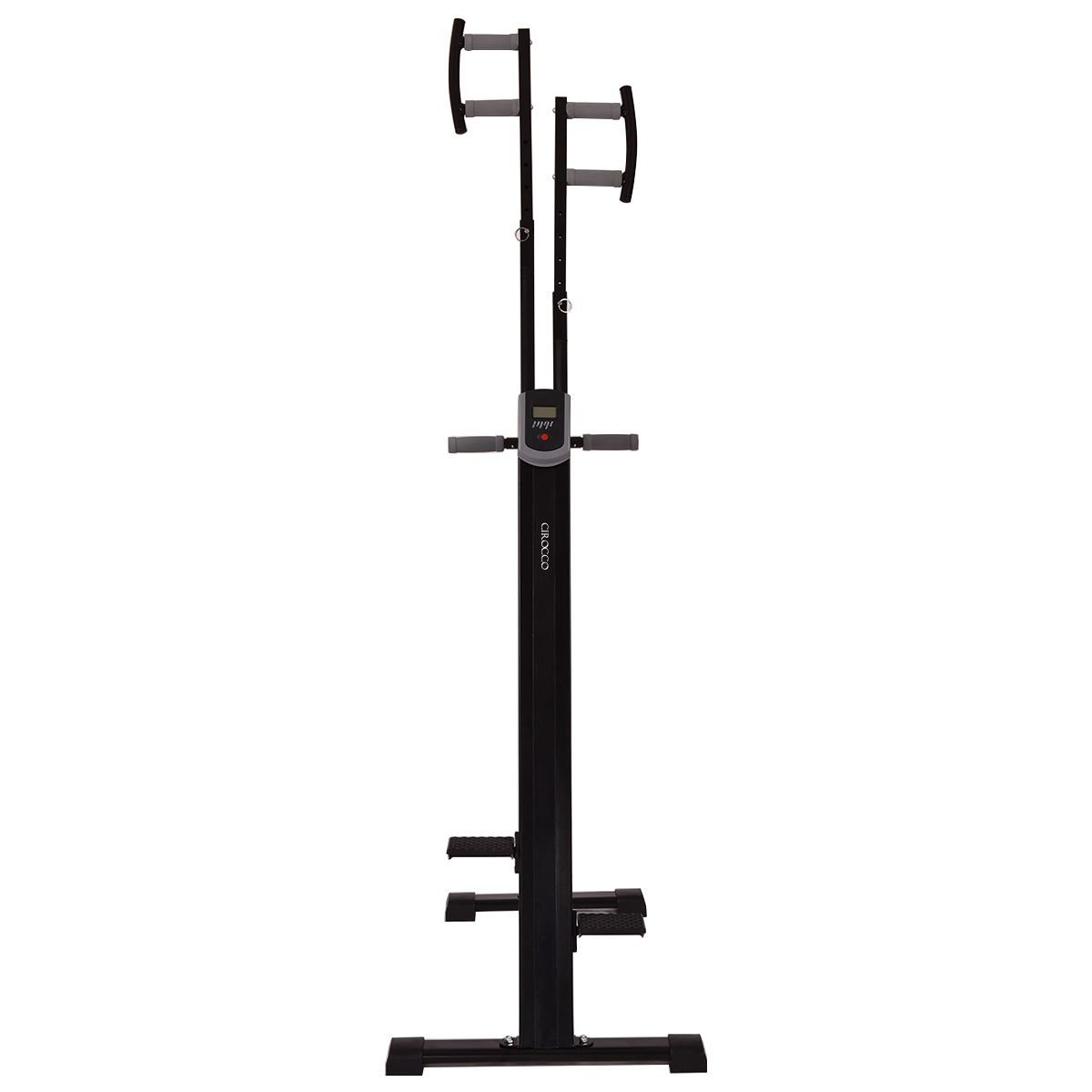 Cirocco Folding Stair Stepper Vertical Climber Exercise Cardio Machine w/ LCD Display | Strong Sturdy Total Full Body Aerobic Anaerobic Workout Fitness Equipment for Calorie Fat Burn Leg Bicep Triceps by Cirocco (Image #4)