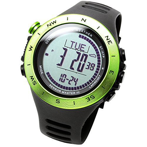Altitude Swiss ([LAD WEATHER] Swiss sensor Altitude/ air pressure / Digital Azimuth Storm alarm Step counter multifunction watch)