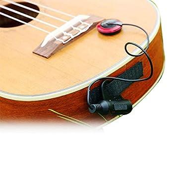 EAPEY Micro Sensor de amplificación electrónico para guitarra acústica/ukelele/Violín/mandolina: Amazon.es: Instrumentos musicales