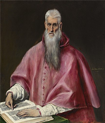 Oil Painting 'El Greco (Domenikos Theotokopoulos) - St. Jerome, 1590-1600', 20 x 23 inch / 51 x 59 cm , on High Definition HD canvas prints is for Gifts And Game Room, Garage And Hallway Decoration