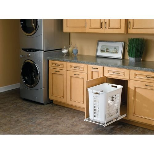 OKSLO Hprv-1520 s hprv series 20 deep pull out polymer hamper with full-extension slid