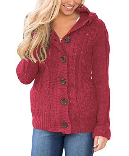 Astylish Button Sleeve Cardigan Sweater