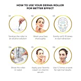 Derma Roller Cosmetic Microdermabrasion Device Tool for Face 0.25mm - Facial Roller 540 Titanium Micro Needles, Skin Roller For Home Skincare Use - Includes Free Storage Case + Free Ebook