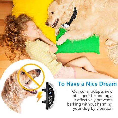 A+Trainer Collar Antiladridos Recargable para Perros, Collar Adiestramiento Ajustable para Perros 7 Niveles de Vibración Progresivos, Resistente al Agua: ...
