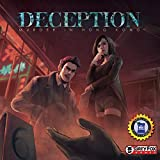 In deception: murder in Hong Kong, players find themselves in a scenario of intrigue and murder, deduction and deception. One player is the murderer, secretly choosing their weapon and the evidence they leave behind. Another is the forensic scientist...