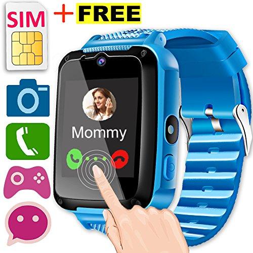 Kids Smart Watch Phone with Free SIM Card [Speedtalk] for Girls Boys Game Watch 1.44'' HD Screen 2 Way Call...
